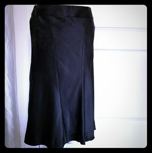 Theory womens size 6 Skirt black Silk knee length